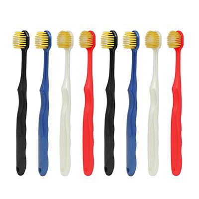 (直发包邮)尚口清 双重软毛宽头牙刷(8支装)3305-随机发