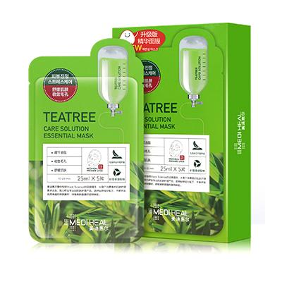 韩国Mediheal 美迪惠尔/可莱丝茶树面膜(5片)