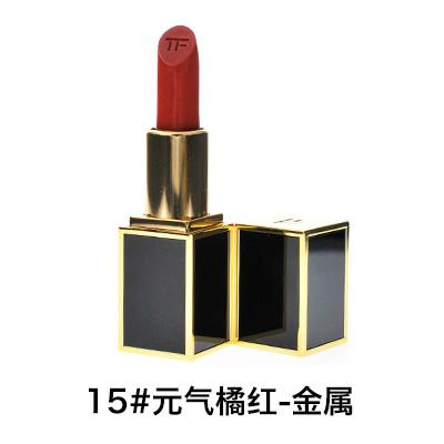 TF 汤姆福特黑金管mini唇膏/口红(2g)15#元气橘红色-金属