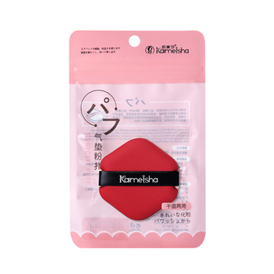 满500赠品-美妆气垫BB植绒粉扑(1个)红色