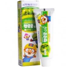 韩国PORORO 宝露露小企鹅低氟护齿儿童牙膏(90g)苹果