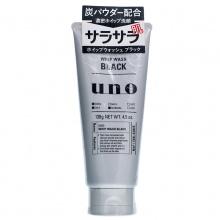 日本Shiseido 资生堂UNO黑炭男士洗面奶(130g)黑色控油