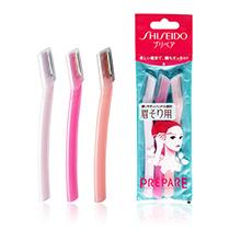 日本SHISEIDO 资生堂PREPARE安全型细巧修眉刀(3支装)