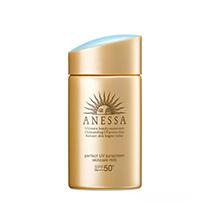 日本Shiseido 资生堂安耐晒黄金钻级防晒霜SPF50+(60ml)金色