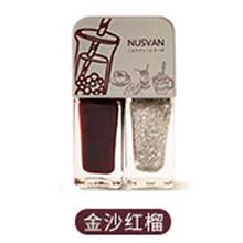 日本NUSVAN 奶茶双色撕拉指甲油(4g*2)金沙红榴