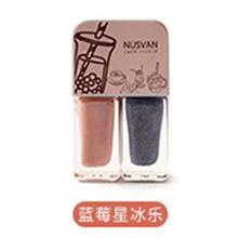 日本NUSVAN 奶茶双色撕拉指甲油(4g*2)蓝莓星冰乐