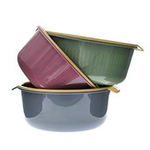 满500赠品-双层沥水篮洗菜盆(1个)小号-颜色随机