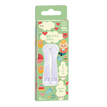 日本Marudai 婴幼儿0-6岁电动牙刷刷头替换装(2个)绿盒软毛