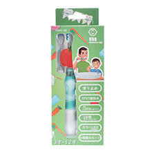 日本Marudai 儿童3-12岁电动牙刷(1支+1个替换头)绿色